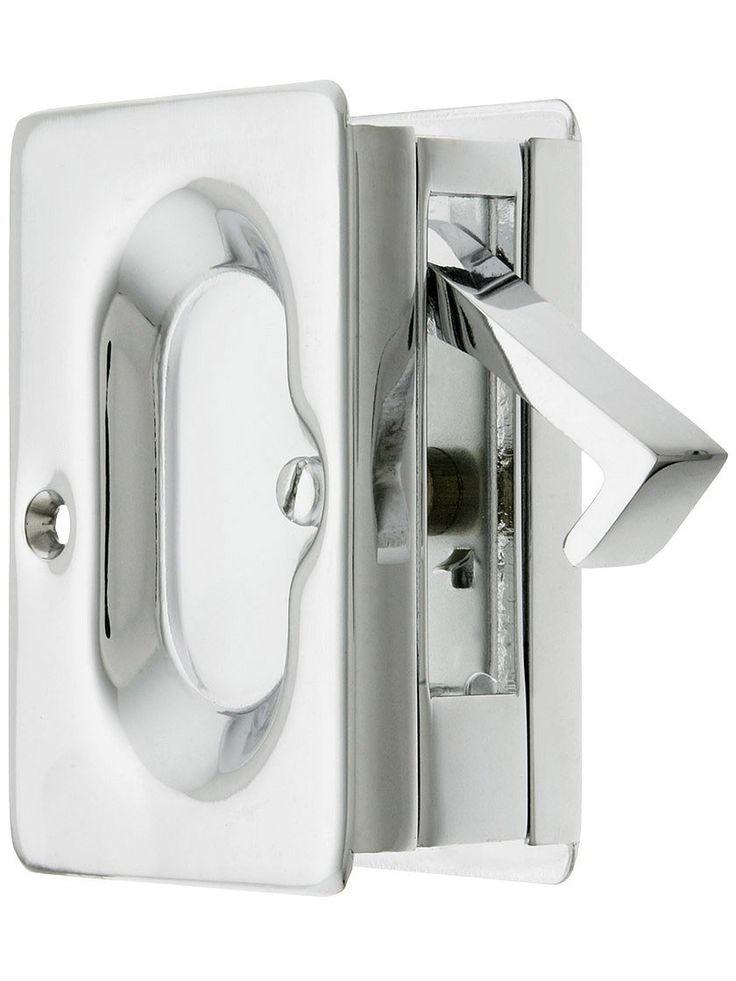 $21.93 Simpsons Premium Quality Mid Century Pocket Door Passage Set In  Satin Nickel. Pocket
