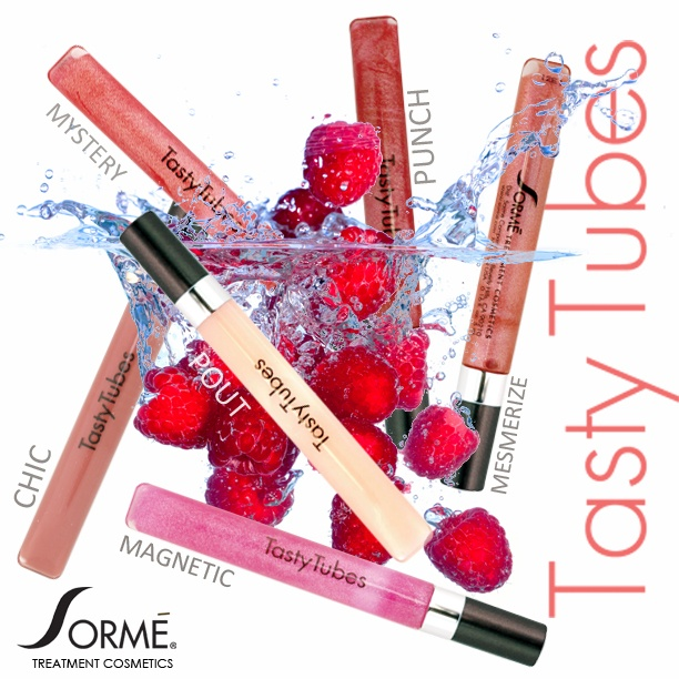Delicious Tasty Tubes Lip Gloss! Make sure you have one in your purse this spring! So easy to apply and has a delicious scent! www.facebook.com/sormecosmetics