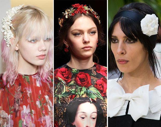 цветочные украшения для волос 2016