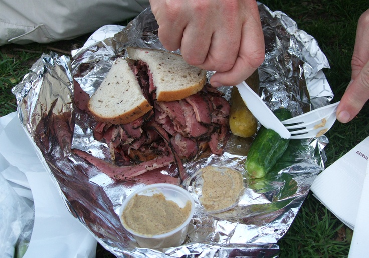 Pastrami and rye from Carnegie's, New York.