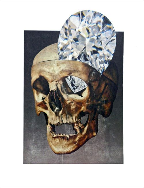 Dead Bling by Damien Hirst 2011 Paper collage on canvas panel