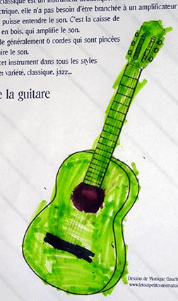 1000 images about dessins coloriages d 39 instruments de - Coloriage guitare classique ...