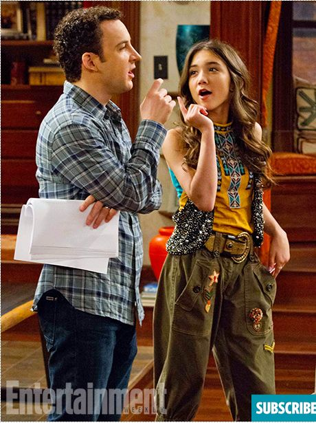#GirlMeetsWorld Photos From the Set - Ben Savage and Rowan Blanchard