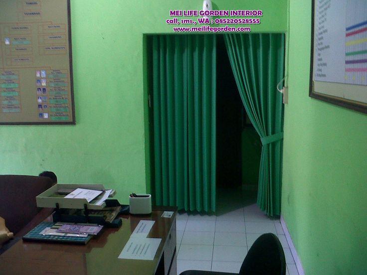 desain gordyn untuk pembatas ruangan gordyn ini terpasang di kantor koramil balongsari surabaya