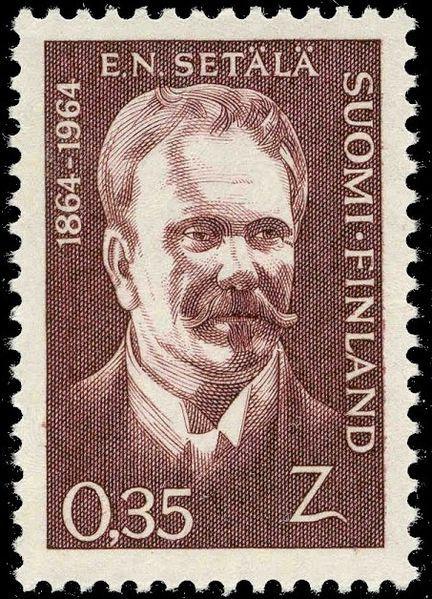 Postage stamp depicting Finnish linguist and statesman E. N. Setälä (Eemil Nestor Setälä)