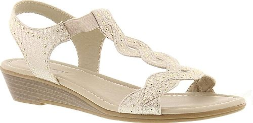 51a764cb1a32 Rialto Women s Shoes in Champagne Color. Rialto s Gemma sandal provides  just the kind of style and comfort that warm weath…