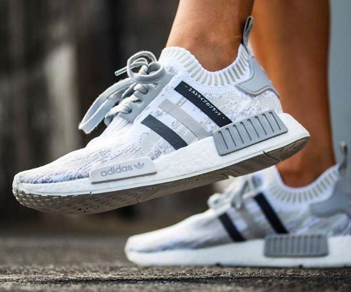 Adidas Nmd R1 Primeknit Grey Glitch Camo Nmd Adidas Women
