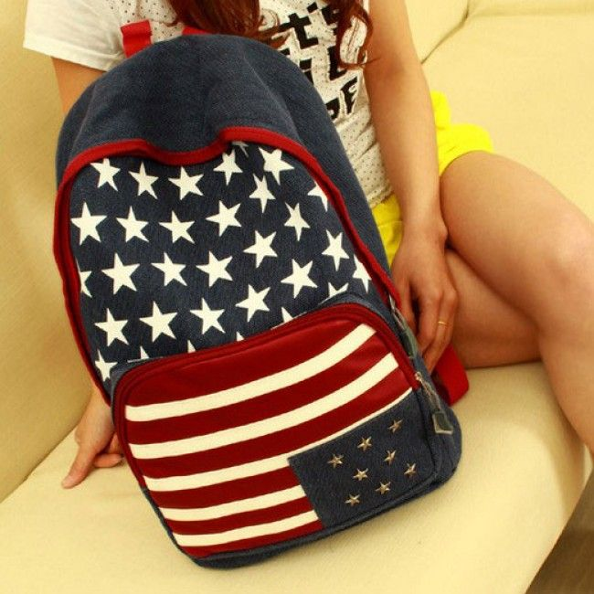 Fashion American Flag Rivet Canvas Backpack for only $24.90 ,cheap Fashion Backpacks - Fashion Bags online shopping,Fashion American Flag Rivet Canvas Backpack is a useful and cool backpack.You can use to be the school bag.