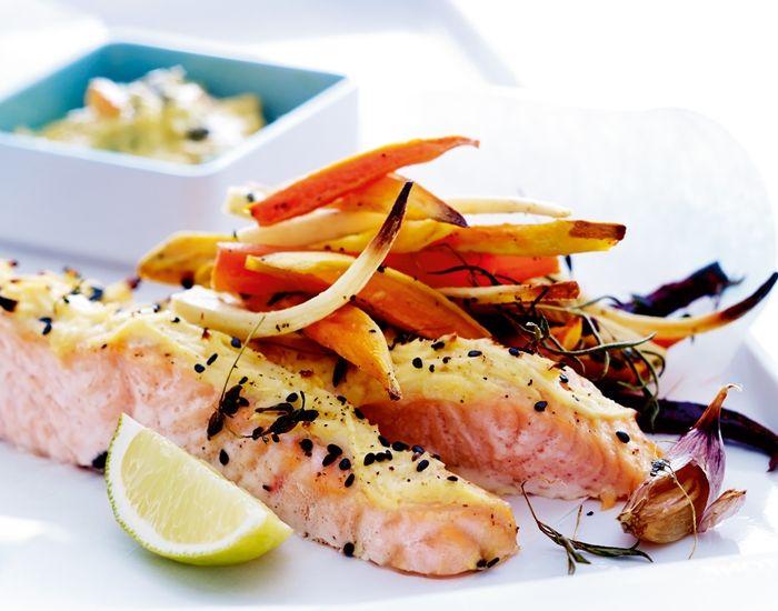 Sund Fish and Chips med laks og rodfrugter - Måltid