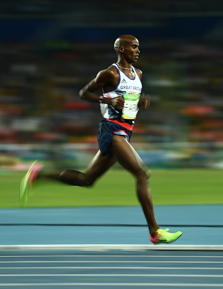 Rio Brazil 13 August 2016 Mo Farah of Great Britain competes in the Men's 10000m…