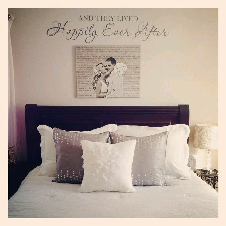 Newly wed bedroom decor