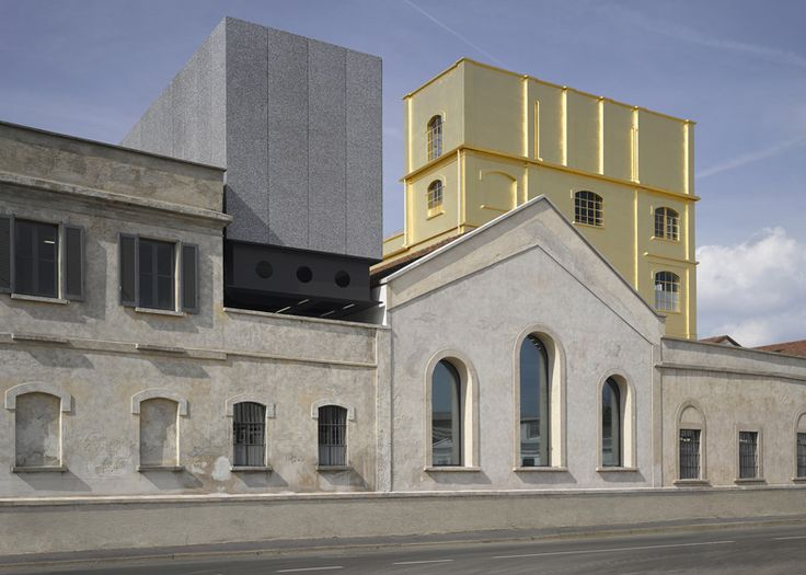 "Rem Koolhaas' firm converted a century-old distillery in Milan into a new arts centre for Fondazione Prada, featuring a ""haunted house"" clad in 24-carat gold leaf and a cinema camouflaged by mirrors."