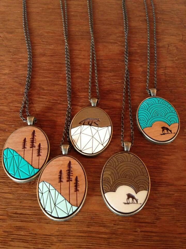 Wooden pendants by Ugly Bunny / so West Coast and so adorable!