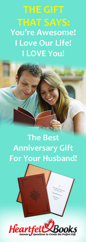 Blow him away with an anniversary gift like no other! Our fun and easy process helps you write a book that details special memories and what you love best about your husband. Same day shipping - next day delivery!