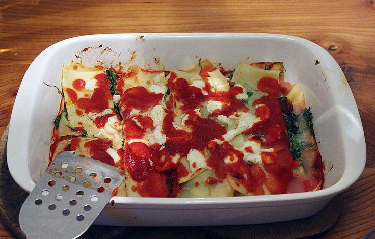 Rucola-Lasagne auch glutenfrei, laktosefrei