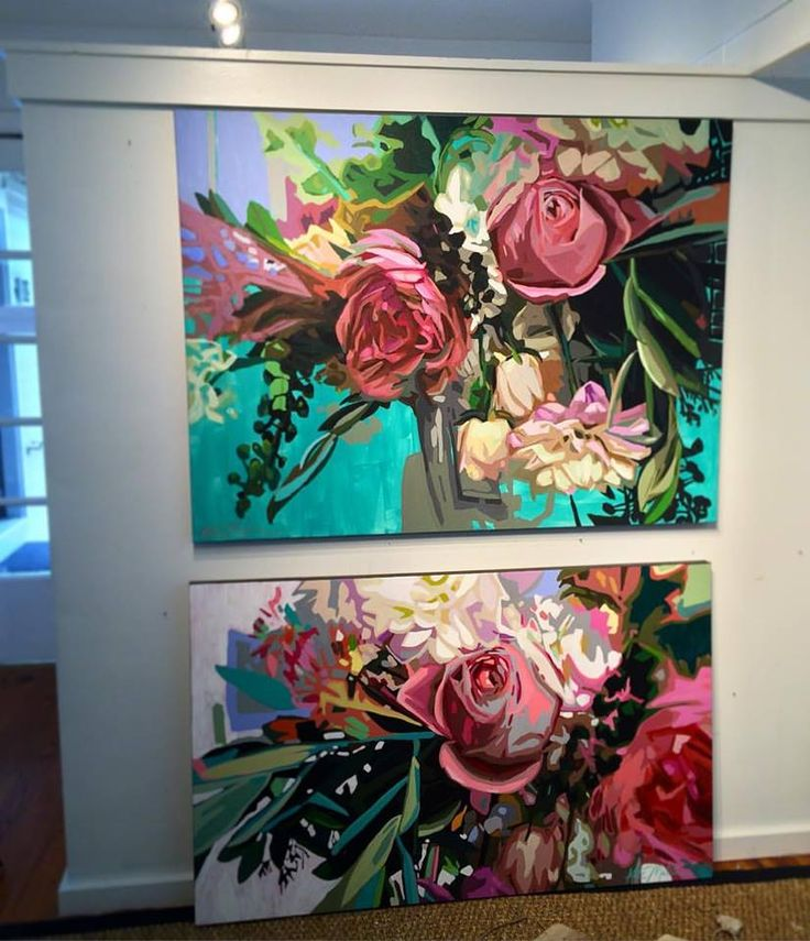 Flower paintings by Kate Mullin. www.katemullinart.com