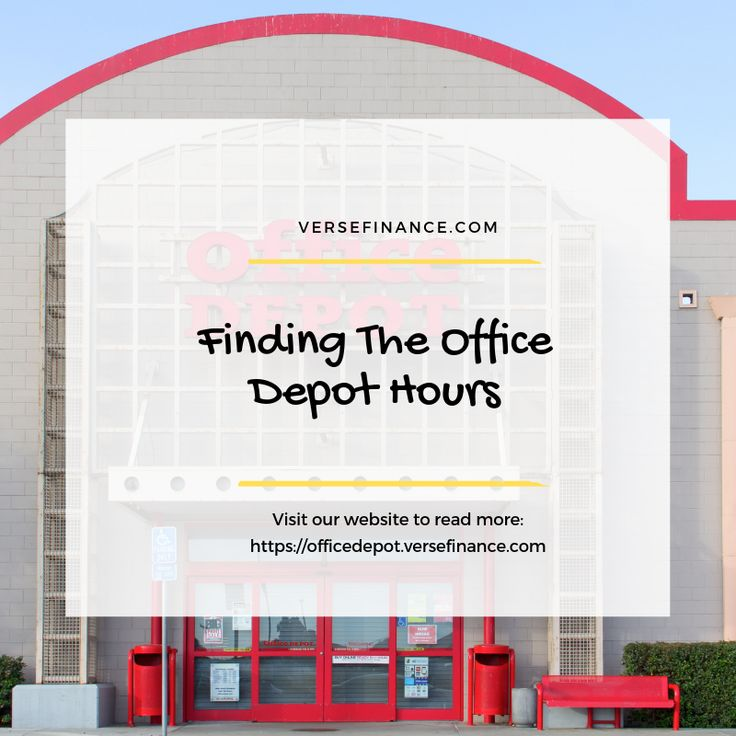 Finding the office depot hours the office office depot