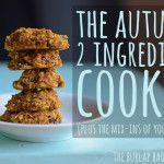 The autumn 2 ingredient cookie