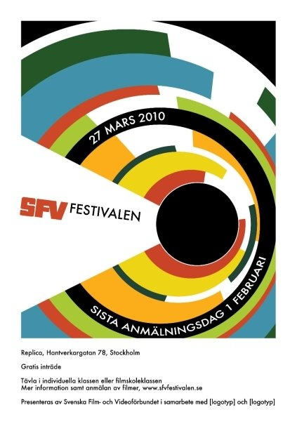 Poster for film festival, design by Fredrik Skyllbäck