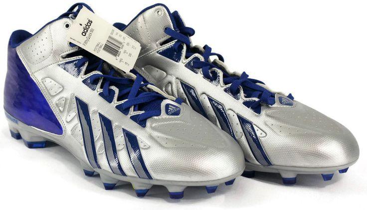 New Adidas FilthyQuick Quickframe Mid Football Cleats Mens Size 15 Blue & Silver #adidas #FootballCleats