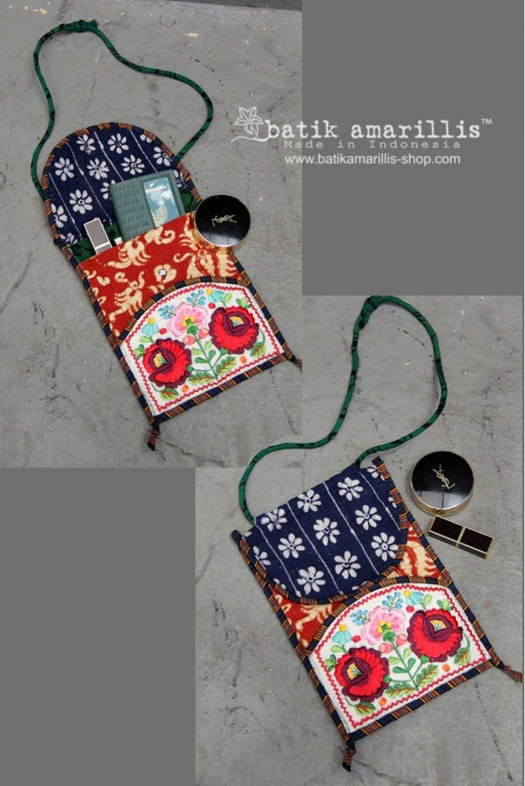 Introducing Batik Amarillis's Traveller Pocket which features Hungarian embroidery inspired and tenun Gedog Tuban Airport and Travelling can be tough! you need Batik Amarillis's Traveller pocket to keep your essential stuff on hand such as your passport,cell phone, your fave's Lipstick etc