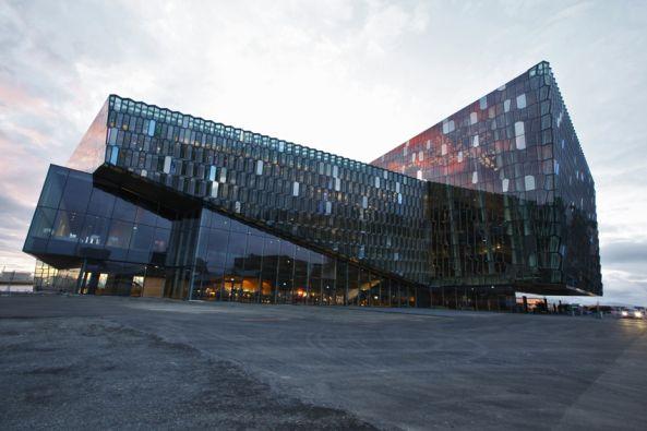 Wetterleuchten in Reykjavik - Konzerthalle von Henning Larsen fertig