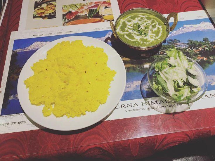 インド料理屋に行くと普段食べない色のカレーが食べたくなる  #カレー #curry #インド料理 #indian #salad #japan #tokyo
