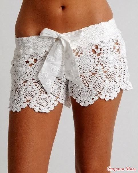 Crochet Shorts Pattern 1   I love white crochet!  kerry
