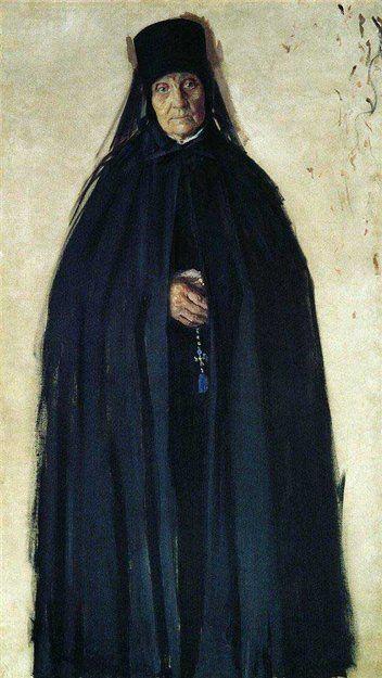 Кустодиев Б.М. Монахиня 1908 г.