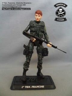 1º Ten. Francine - Exército Brasileiro - 1st Lt. Francine (Brazilian Army) ~ Gi joe Action Figure Customs