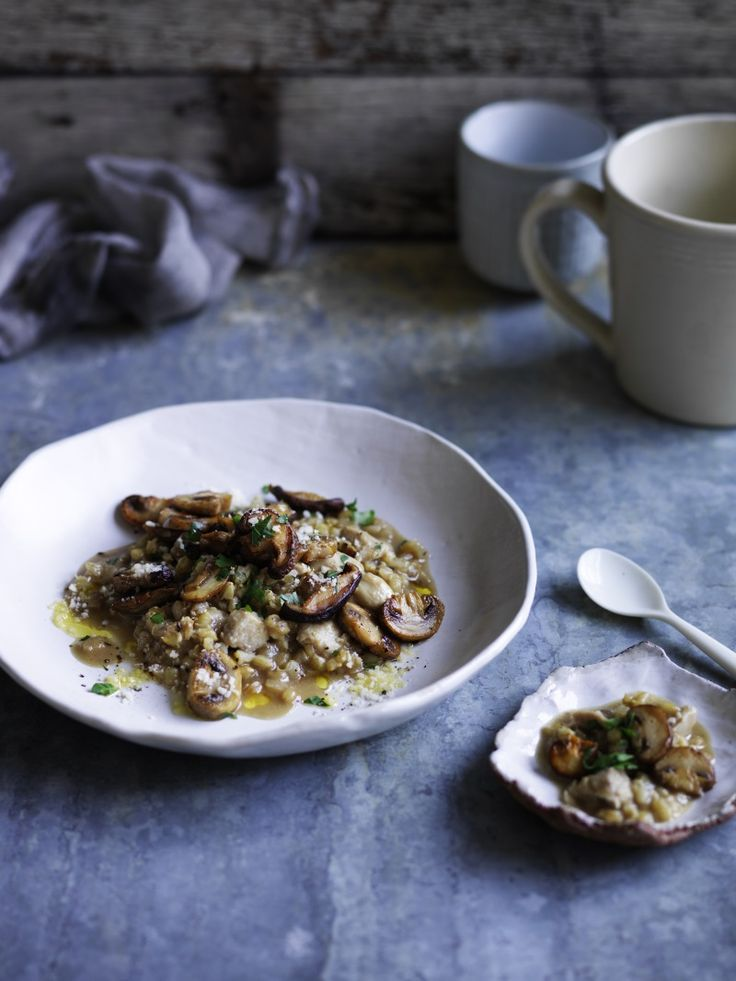 Chicken and mushroom barley risotto | Thermomix cookbook | Something for Everyone