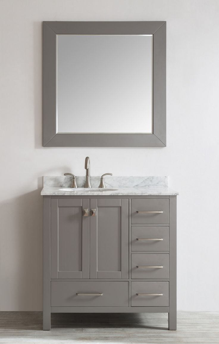 bathroom vanity grey. Eviva Aberdeen 36  Transitional Grey Bathroom Vanity with White Carrera Countertop Square Sink Best 25 bathroom vanity ideas on Pinterest tile