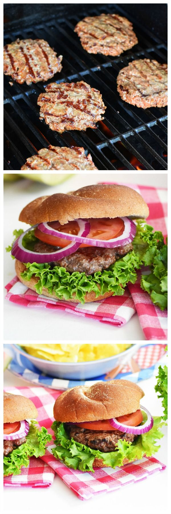 Hearty Backyard Burgers are so delicious and feature beer, onion, garlic, and Worcestershire sauce. Come check out the recipe today! #ad #BurgerTour