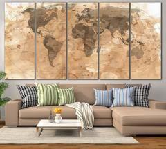 Rustic World Map №800