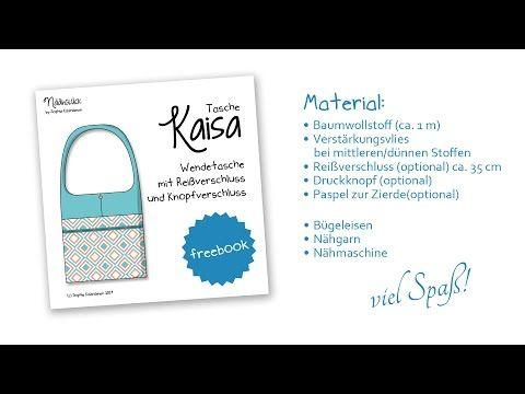 "Tasche ""Kaisa"" - Kostenloses Schnittmuster! - YouTube"