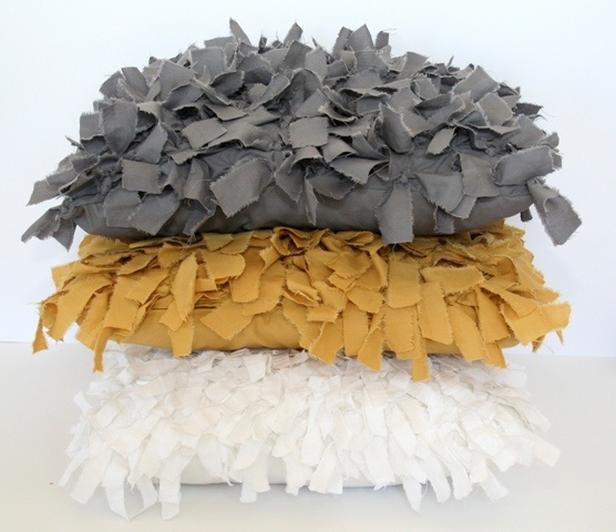 'Tumbleweed cushions' - charcoal, mustard and white. Available in 50 x 50cm, 60 x 60cm and 60 x 80cm.