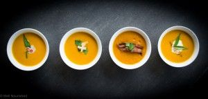 Pumpkin soup recipe healthy (and a vegan version). Simple and easy with Indian, Thai, Ginger and bacon variations to turn this soup into a taste sensation.