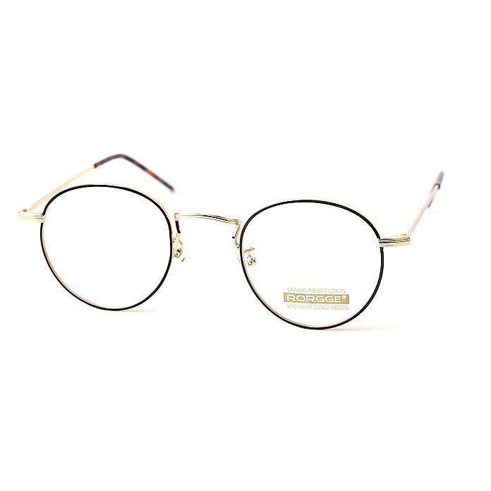 1920s Vintage Eyeglasses Oliver Retro E1061 Gold Black Frames Round rubyruby