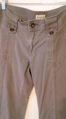 Maurices-Size-7-8-Capris-Gray-Cuffs-Khakis-Pants-Cargo