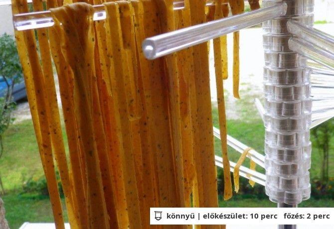 Aszalt paradicsomos házi tészta