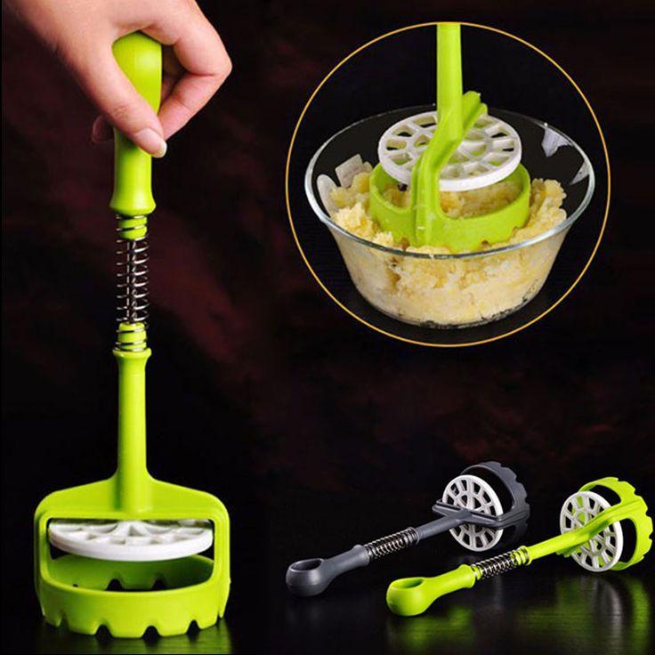 New Multifunction Easy Use Potato Masher Mashed Salad Potato Mould Press Kitchen Accessories Herramienta de prensa de ajo Hot #Affiliate