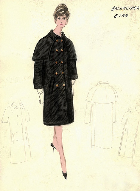 Balenciaga Dress and Coat by FIT Library Department of Special Collections, via Flickr