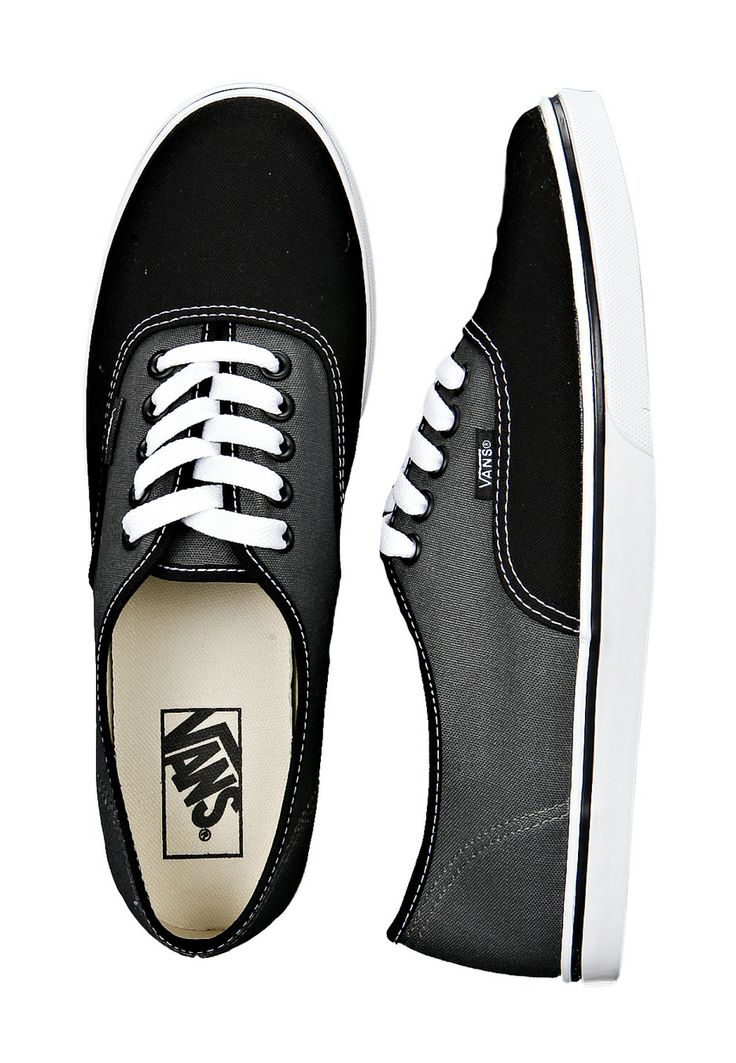 Black and dark gray vans for women