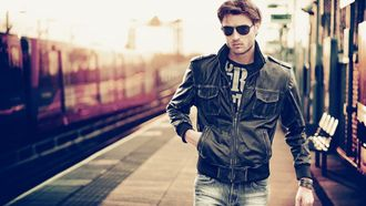 очки, макро, куртка, Вокзал, мужчина