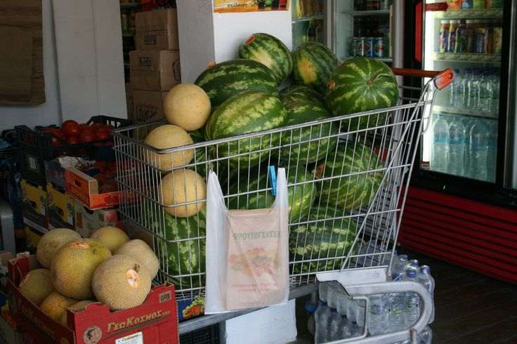 Melon Shopping in Greece - Melonen Shopping in Griechenland