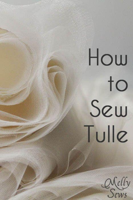 Como costurar Tule! ótimo!