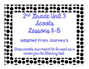 This supplemental resource was prepared by Fun In 2nd Grade and have neither been developed, reviewed, nor endorsed by Houghton Mifflin Harcourt Publishing Company. This resource includes scoot review games to prepare your students for the literacy test for