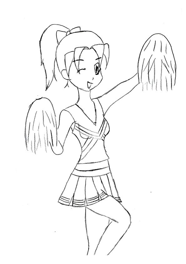 educational-csms-cheerleader | Coloring pages ...