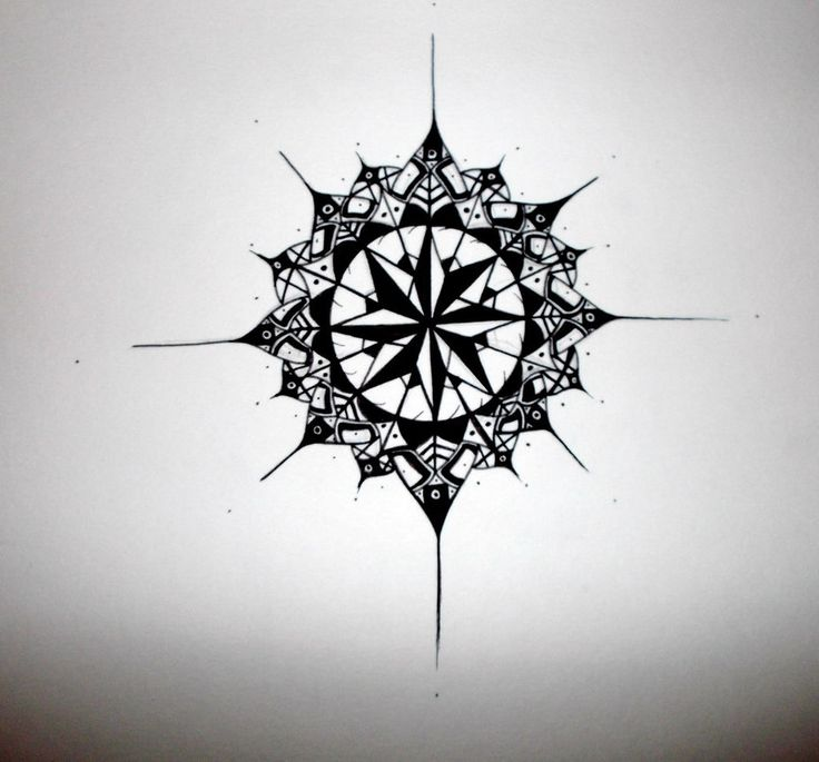 Compass Tattoo Design 2 by emeza