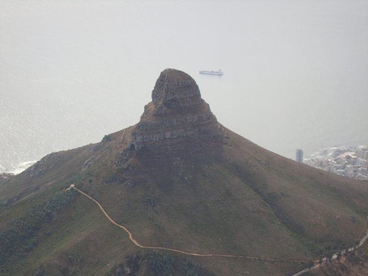 Lion's head view from the Table Mountain